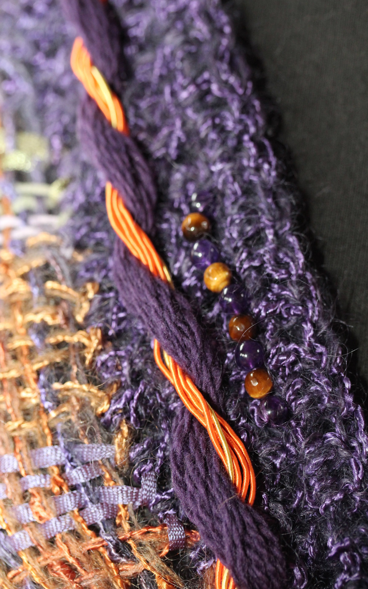 Detail image of Faery Mantle in Purple Fall colors