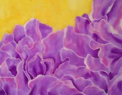 Silk Painting, Lavender Rose