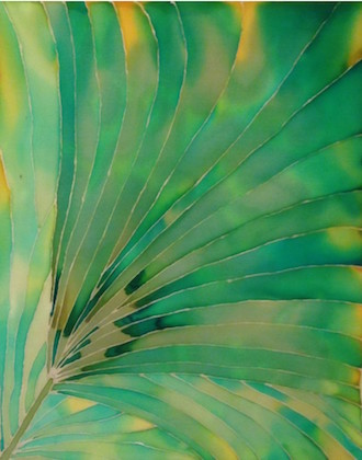 Silk Painting, Palm Fronds